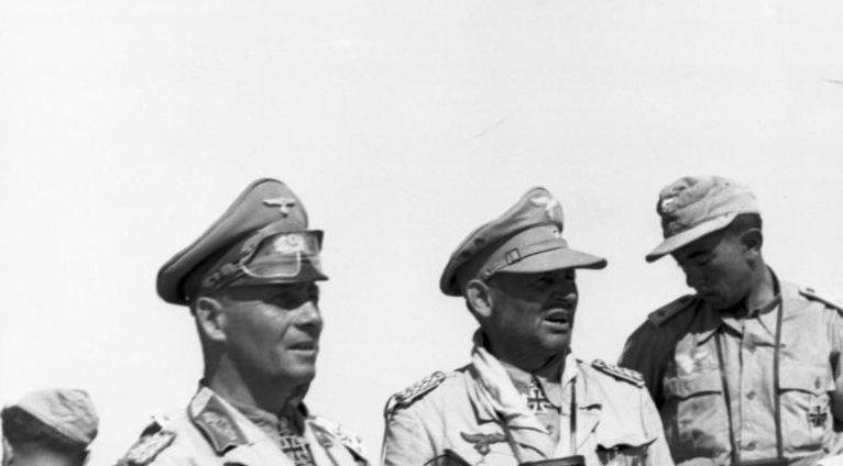 Бернхард Рамке и Эрвин Роммель. 1942 г.