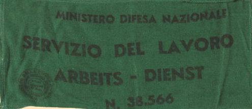 Нарукавная повязка сервисной службы Италии.