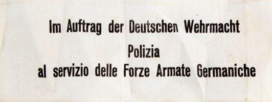 Нарукавная повязка военной полиции в Италии.