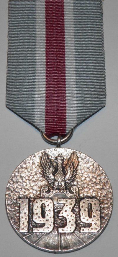 Аверс медали «За участие в оборонительной войне 1939 года».