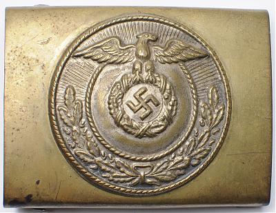 Пряжка латунная штурмовых отрядов СА 3-го типа с крестом Рейха.