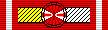 Лента для орденской колодки Командорского Крест ордена Возрождения Польши со Звездой.