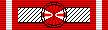 Лента для орденской колодки Командорского Крест ордена Возрождения Польши.
