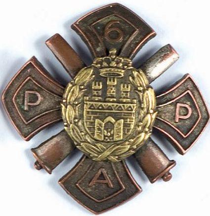 Солдатский полковой знак 6-го полка легкой артиллерии.