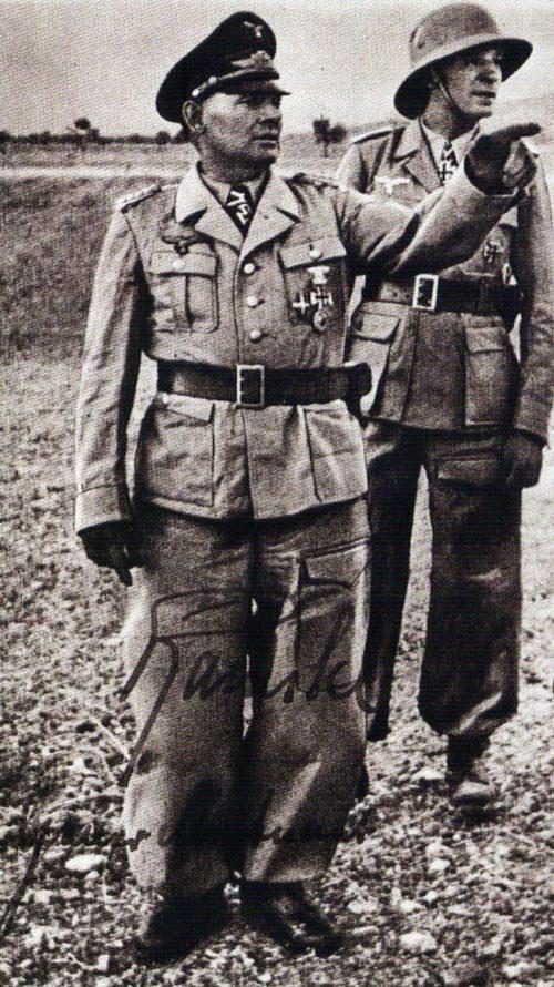 Бернхард Рамке и Ганс Кро в Северной Африке. 1942 г.