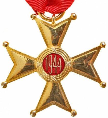 Реверс Рыцарского Креста ордена Возрождения Польши.