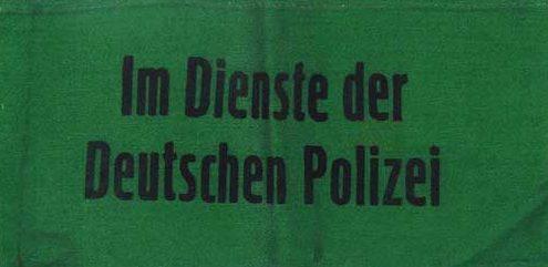 Нарукавные повязки «На службе немецкой полиции».