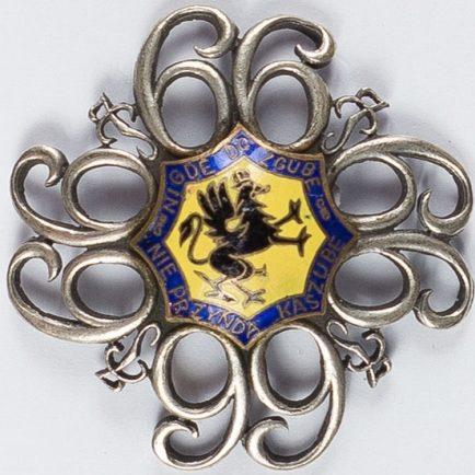 Полковой знак 66-го Кашубского пехотного полка им. маршала Юзефа Пилсудского.