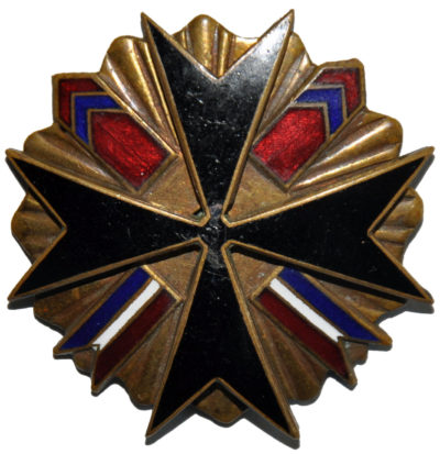 Аверс и реверс полкового знака 12-го Подольского уланского полка.