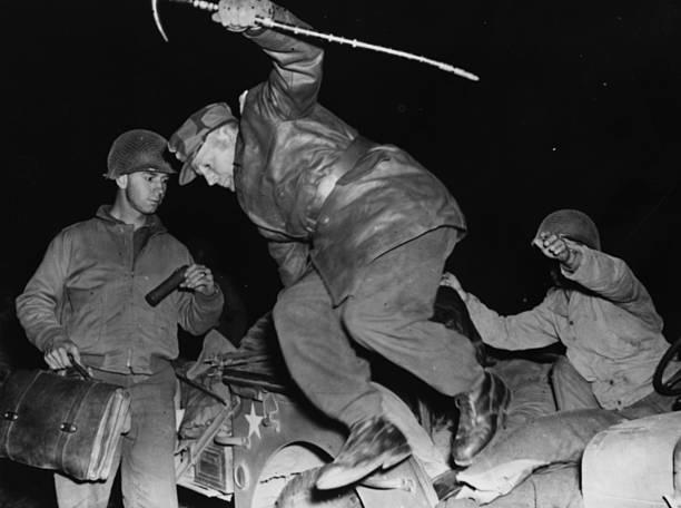 Бернхард Рамке в плену у американцев. 1944 г.