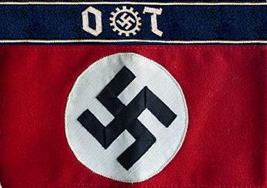 Стандартные нарукавные повязки руководящего состава организации Тодта.