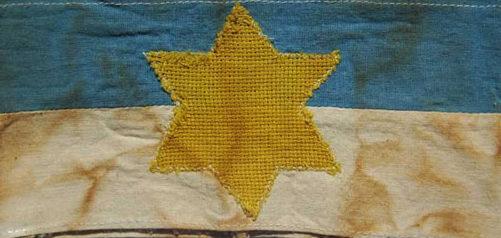 Нарукавная повязка евреев в Литве.