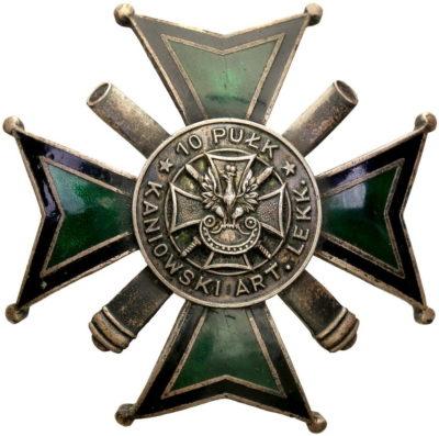 Аверс и реверс офицерского полкового знака 10-го Канёвского полка легкой артиллерии.