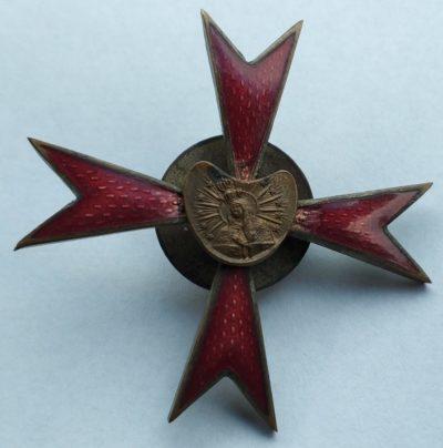 Аверс и реверс полкового знака 13-го Виленского уланского полка.