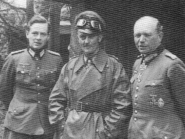 Вальтер Модель, Вальтер Кауфманн и Гейнц Гудериан. 1944 г.
