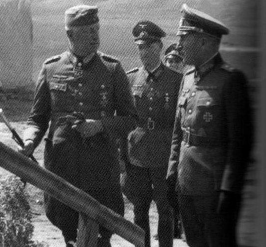 Эрхард Раус, Эрих фон Манштейн и Ханс Шпайдель. 1941 г.