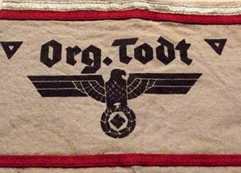 Стандартные нарукавные повязки среднего звена организации Тодта.