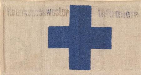 Нарукавная повязка еврейской медсестры в Бельгии.