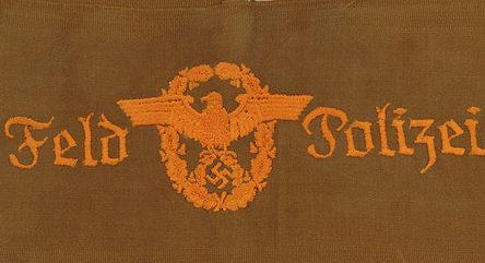 Нарукавная повязка полевой полиции.