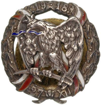 Солдатский полковой знак 15-го уланского полка.
