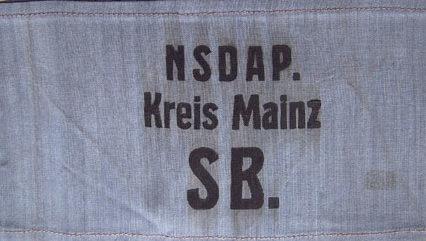 Нарукавная повязка сотрудников региональных подразделений НСДАП.