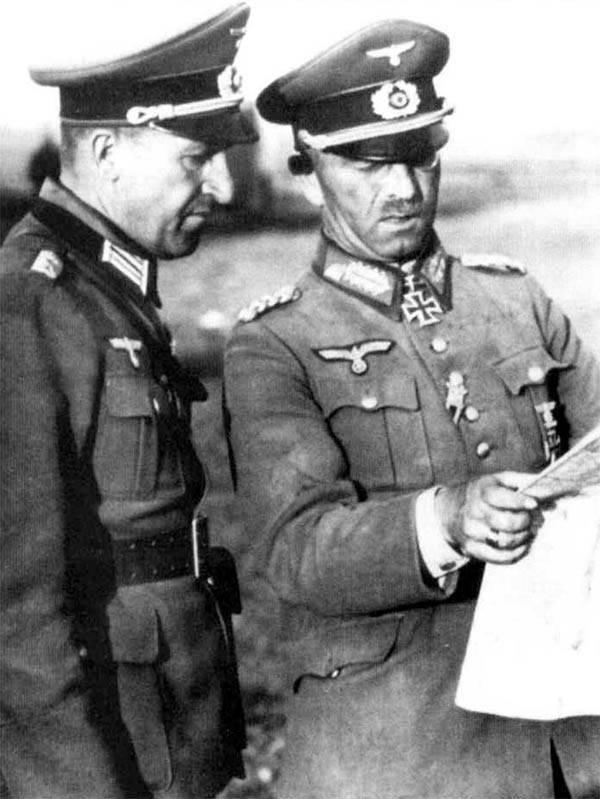 Эрхард Раус и Франц Ландграф. 1943 г.