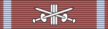 Лента для орденской колодки Серебряного Креста Заслуги с мечами.