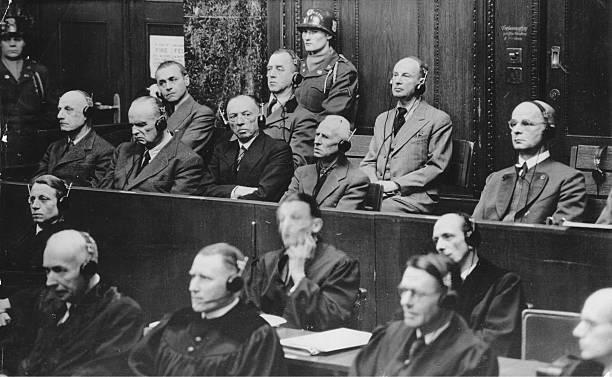 Георг Рейнгардт на Нюрнбергском процессе. 1945 г.