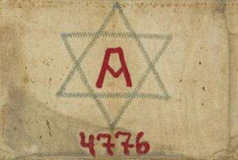 Нарукавные повязки евреев, используемых для принудительных работ.