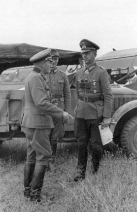 Эрхард Раус и Отто Велер. 1943 г.
