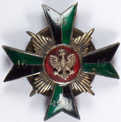 Полковой знак 16-й Поморского полка легкой артиллерии.