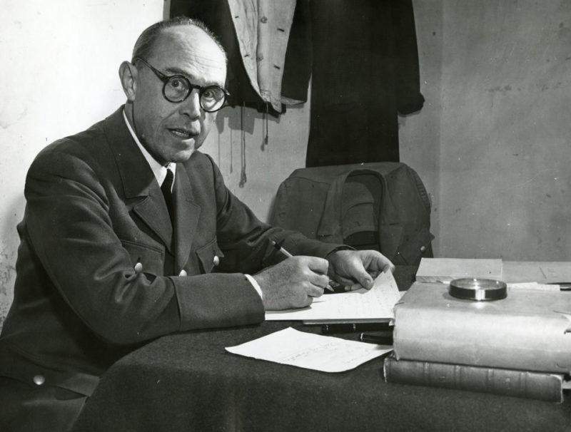 Альберт Кессельринг на Нюрнбергском процессе.1945 г.