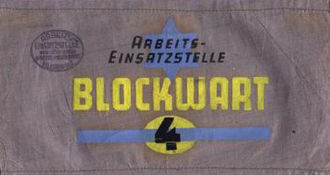 Нарукавная повязка 4-го еврейского блока в Ковненском гетто.