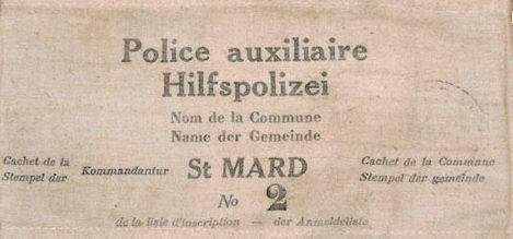 Нарукавные повязки вспомогательной полиции.