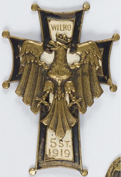 Аверс и реверс офицерского полкового знака 76-го пехотного полка.