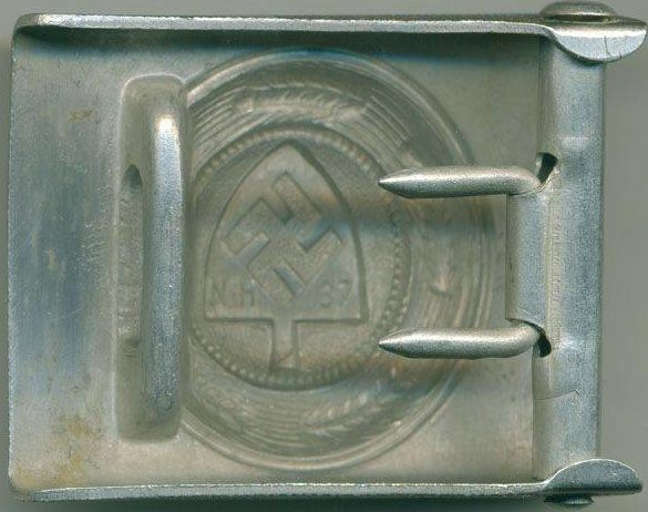 Ремень с пряжкой рядового состава организации RAD образца 1936 г. с темной полировкой.