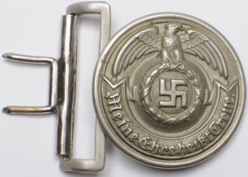 Алюминиевая пряжка ремня офицеров СС.