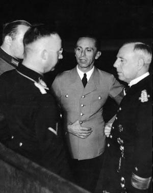 Фридрих Канарис, Генрих Гиммлер и Йозеф Геббельс. 1942 г.