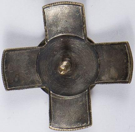 Аверс и реверс офицерского полкового знака 20-го полка легкой артиллерии.