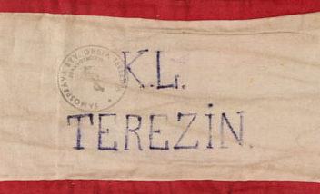 Нарукавная повязка медика в концлагере Терезин.