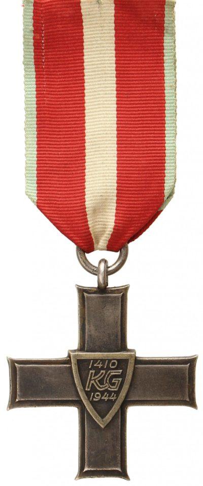 Реверс Ордена Крест Грюнвальда 3-класса.