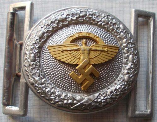 Пряжка алюминиевая парадного ремня офицерского состава NSFK.