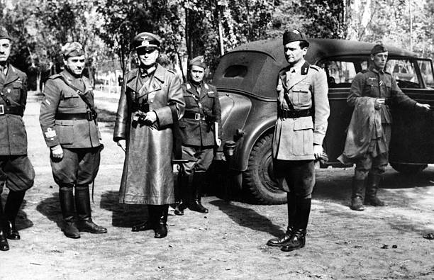 Эвальд Клейст, Джованни Мессе и Тито Кавалерии. 1941 г.