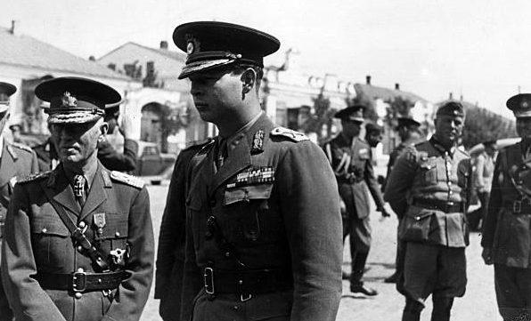 Эвальд Клейст, Ион Антонеску и король Михай. Одесса. 1941 г.