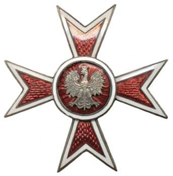 Аверс и реверс офицерского полкового знака 80-го пехотного полка Новогрудских стрелков.