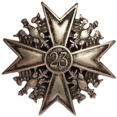 Солдатский полковой знак 23-го уланского полка.