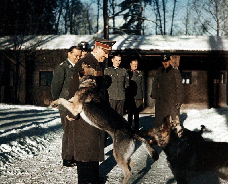 Гитлер на территории ставки.