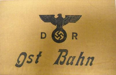 Нарукавная повязка Reichbahn на Востоке.