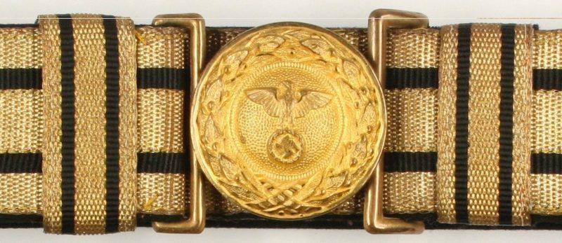 Парадный парчовый ремень с золотистой пряжкой рейхсминистра МИД.