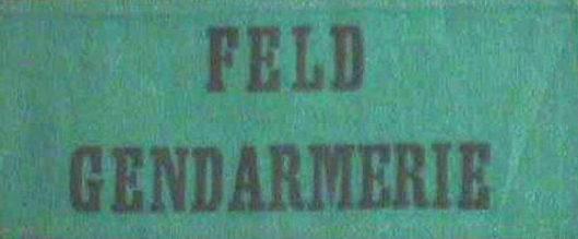 Нарукавная повязка полевой жандармерии.